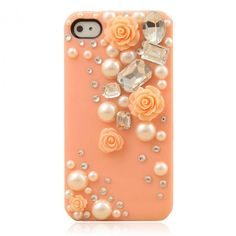 $16.99 Lovely Princess Rose With Pearl IPhone 4/4S Case