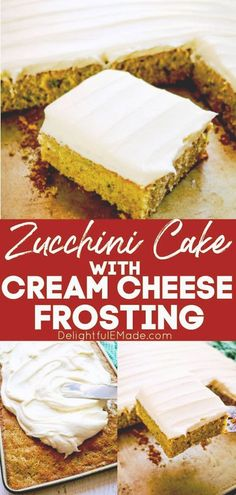 If you're looking for an easy zucchini cake recipe, look no further! This cream cheese frosted zucchini cake is one of our favorite summer dessert recipes! Adapted from my popular carrot cake sheet cake and my cinnamon swirl zucchini bread, this recipe will be your new go-to dessert recipe for summer!    Delightful E Made