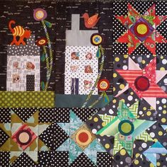 Quilt Boarders, House Template, House Quilts, Quilt Art, Happy House, Pink Houses, Mini Quilts, Applique Quilts, Ios App