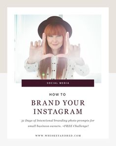 How to brand your instagram cover by Whiskey & Red.