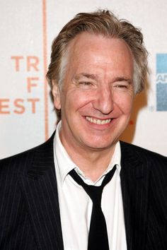 His killer smile would be enough to get you through any day. | 14 Reasons Alan Rickman Would Make The Perfect Boyfriend