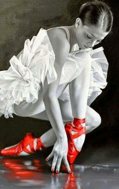 Love the red pointe shoes
