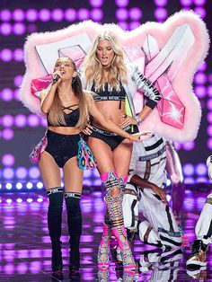 Ariana Grande performing at the Victoria's Secret Fashion Show 2014