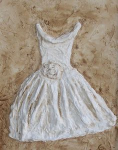 dress, plaster of paris