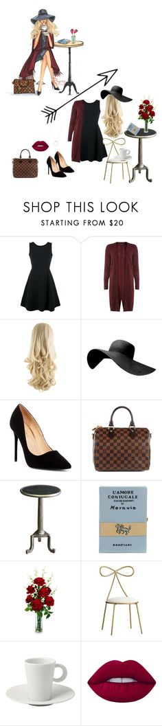 """""""♡illustrated style♡"""" by mia-172xx ❤ liked on Polyvore featuring WALL, Emporio Armani, Dorothy Perkins, Liliana, Louis Vuitton, Bliss Studio, Olympia Le-Tan, Nearly Natural, PBteen and Bernardaud"""