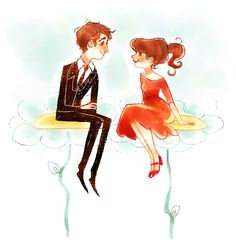 otp week day 2: Ned and Chuck from Pushing Daisies!! r.i.p. the cutest show ever made :,(