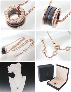 bvlgari bulgari necklace pendant bzero1 black ceramic k18 pg necklace pink gold cl855762