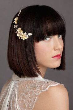 bob with bangs hair accesory - Google Search