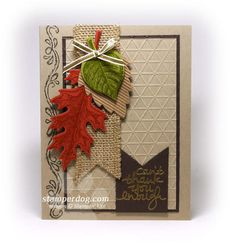 Special Thank You Card | Vintage Leaves, Lovely Amazing You, Chalk Lines