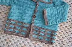 Crochet pattern : baby-vest in 3 sizes by vicarno on Etsy