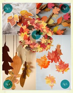 leaves and paper