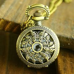 The three butterflies hollow antique pocket watches