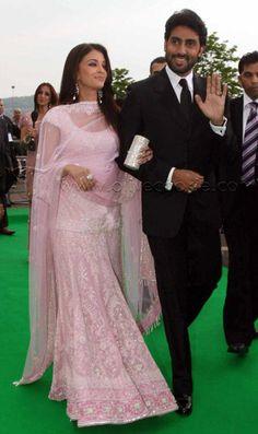 Baby-pink lehenga - Aishwarya Rai