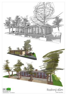 Rodinný dům Forest 3 Plants, Design, Plant, Planets