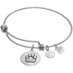 """love this life Crystal \""""I Love My Dog\"""" Charm Bangle Bracelet ($20) ❤ liked on Polyvore featuring silver"""