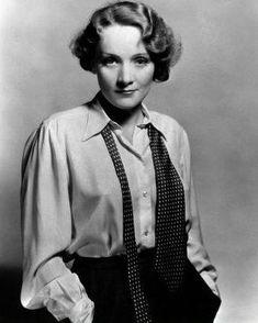 Marlene Dietrich #Queen #PowerSuit #PastToPresent
