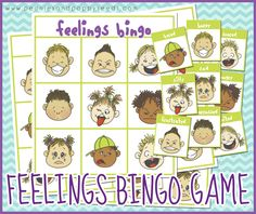Free Printable Bingo Game about Feelings | Peonies and Poppy Seeds:
