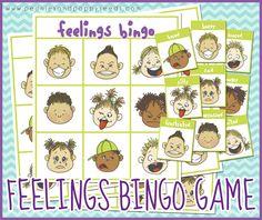 Free Printable Bingo Game about Feelings | Peonies and Poppyseeds