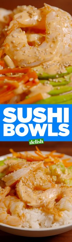These Sushi Bowls are #SushiGoals. Get the recipe on Delish.com.