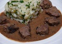 Kančí guláš po staročesku Korn, Stew, Mashed Potatoes, Meat, Cooking, Ethnic Recipes, Red Peppers, Whipped Potatoes, Kitchen