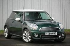Mini Cooper in British racing green