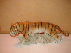 Royal Dux Bohemia  Tiger Czech Republic by TheIDconnection on Etsy, $320.00