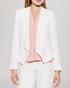 VINCE CAMUTO Drape Front Blazer | Bloomingdale's