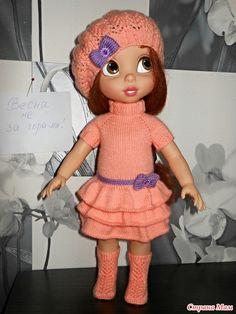 Платье, берет и сапожки спицами. Описание. - http://www.stranamam.ru/post/9283546/
