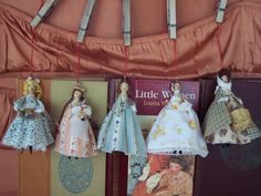 Little women Clothes Pin Dolls! I may have to commission my friend Chrissa to make these.