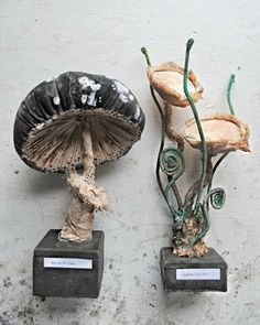 Oh! Monsieur Finch. Textile ~ Toadstools : Upcycled Fairy Tale Objects : By Mister Finch from Leeds in Yorkshire