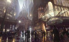 Afbeeldingsresultaat voor steampunk city