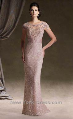 Mon Cheri 113D00 blush color evening gown wedding dress
