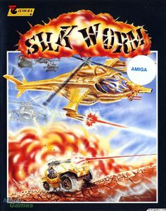 Silkworm is a classic horizontally-scrolling shoot-em-up. The main difference between this game and many other side-scrolling shoot-em-ups is that you will be on land as well as in the air. The first player would play as a helicopter, but if a second Games Box, Old Games, Games To Play, Vintage Video Games, Retro Video Games, Retro Games, Video Game Posters, Video Game Art, Amiga Forever