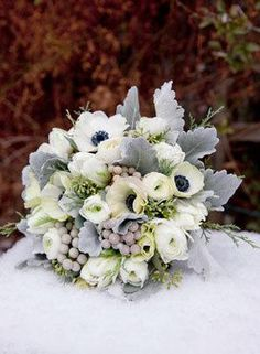 white wedding centerpieces with Anenome - Google Search
