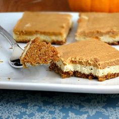light Pumpkin Cheesecake Bars