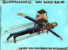 Steve Bell on Barack Obama, Guantánamo Bay and drones – cartoon