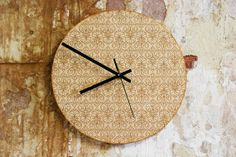 Modern Wood Wall Clock with an Old English by FactoryTwentyOne, £34.99