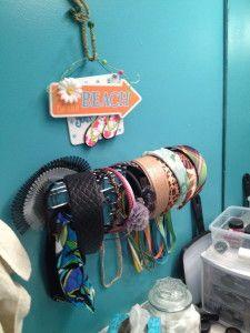 DIY Headband Organizer using a towel rack!