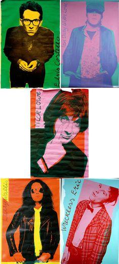 Barney Bubbles posters for Stiff Records