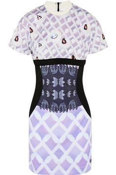 adidas Originals|+ Mary Katrantzou Lola satin-jersey mini dress
