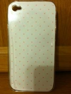 White with little pink hearted background and case for $10.00. -MK Creations