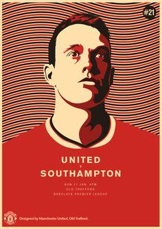Match poster: Manchester United vs Southampton, 11 January 2015. Designed by @manutd.