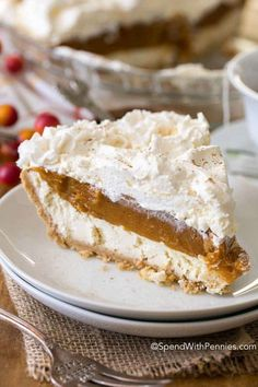 No Bake Pumpkin Cheesecake is a dreamy dessert with layers of cheesecake, pumpkin and whipped topping all nestled in a graham crust. It is so creamy and delicious, it will become your new fall dessert go to!