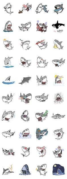 yes, sharks can be cute, too happy shark week 🌊 Cute Shark, Great White Shark, Hai Tattoos, Shark Drawing, Shark Bait, Budget Planer, E Tattoo, Shark Week, Tattoo Sketches