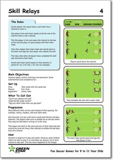 Fun Soccer Games for 9 to 11 Year Olds