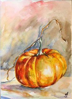 Watercolor pmpkim