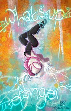 Spider-Gwen by Katie Cook * Marvel Comic Universe, Comics Universe, Marvel Comics, The Ancient One, Gwen Stacy, Rocket Raccoon, Spider Gwen, Spider Verse, Doctor Strange