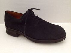 Cole Haan Shoes Womens Size 7 B Black Suede Oxford Lace Up 7B #ColeHaan #Oxfords