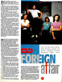 Foreigner A Foreign Affair Article Picture S | eBay