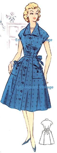 Plus Size (or any size) Vintage 1950s Dress Pattern - PDF - Pattern No 34: Christine. $10.20, via Etsy.